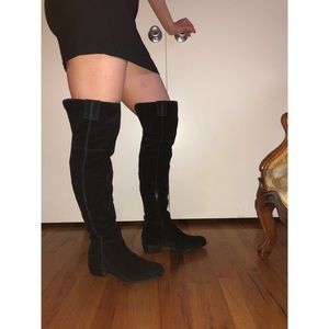 Black Suede Sam Edelman Over the Knee Boots